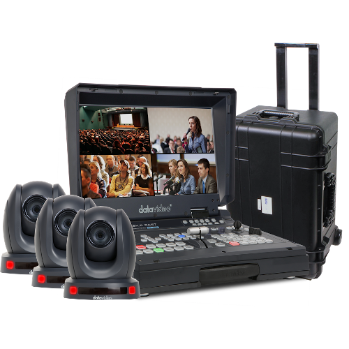 NEW datavideo BLD1601 (HS-1600T, three PTC-140T's and a sturdy rolling case for transport) - BDL 160118022020055203