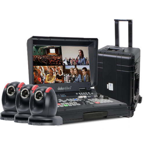 NEW datavideo BDL1602 (HS-1600T, three PTC-150T's and a sturdy rolling case for transport) - BDL 160224022020080303