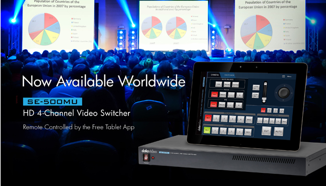Datavideo Mixed Resolution Switcher is Ready to Ship